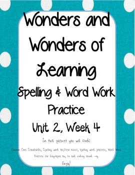 Wonders of Learning - Unit 2, Week 4 - Word Work - 1st grade
