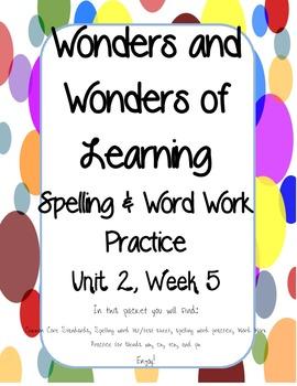 Wonders of Learning - Unit 2, Week 5 - Word Work - 1st grade