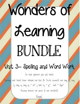 Wonders of Learning - Unit 3- Spelling and Word Work BUNDLE