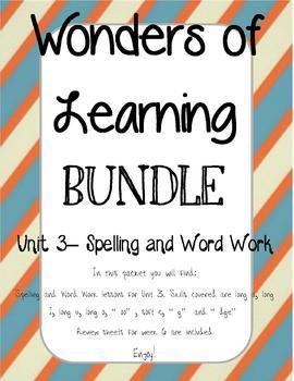 Wonders of Learning - Unit 3- Spelling and Word Work BUNDLE