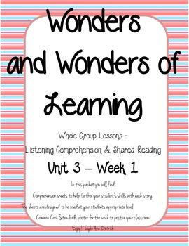 Wonders of Learning - Unit 3, Week 1 - Reading Comprehension