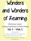 Wonders of Learning - Unit 3, Week 2 - Reading Comprehension