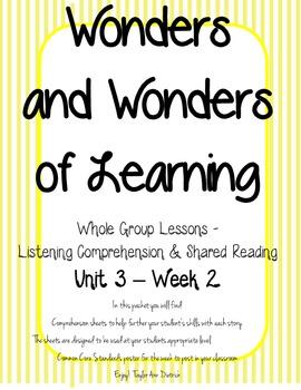 Wonders of Learning - Unit 3, Week 2 - Reading Comprehension