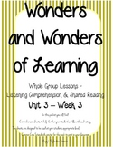 Wonders of Learning - Unit 3, Week 3 - Reading Comprehension
