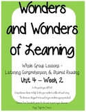 Wonders of Learning - Unit 4, Week 2 - Reading Comprehension