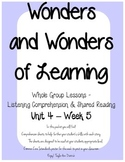Wonders of Learning - Unit 4, Week 5 - Reading Comprehension