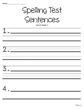 Wonders of Learning- Unit 5, Week 1 - Word Work and Spelling