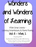 Wonders of Learning - Unit 6, Week 1 - Reading Comprehension