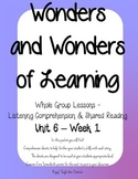 Wonders of Learning - Unit 6, Week 1 - Reading Comprehension
