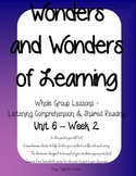 Wonders of Learning - Unit 6, Week 2 - Reading Comprehension
