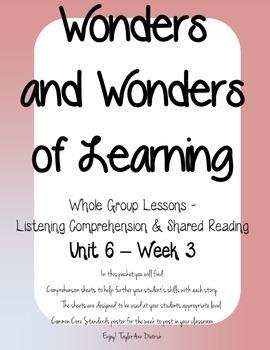 Wonders of Learning - Unit 6, Week 3- Reading Comprehension