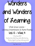 Wonders of Learning - Unit 6, Week 4 - Reading Comprehension