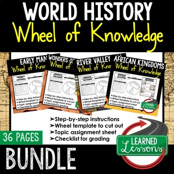 Wonders of the World Activity, Wheel of Knowledge (Interactive Notebook)