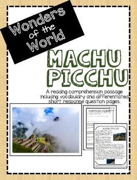 Wonders of the World: Machu Picchu