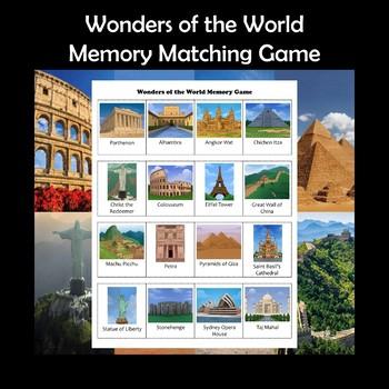 Wonders of the World Memory Game