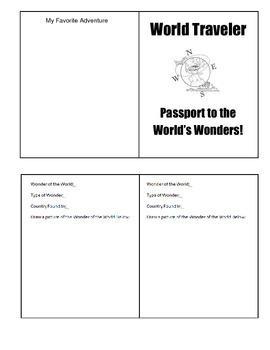 Wonders of the World Passport