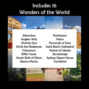 Wonders of the World Research Graphic Organizers
