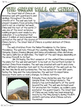 Wonders of the World: The Great Wall of China