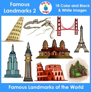 Wonders of the World and Famous Landmarks Clip Art Set 2