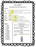 Wonders reading 3rd Grade Unit 5 Study Guides