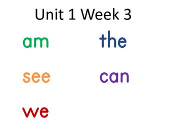 Wonders spelling words for focus wall