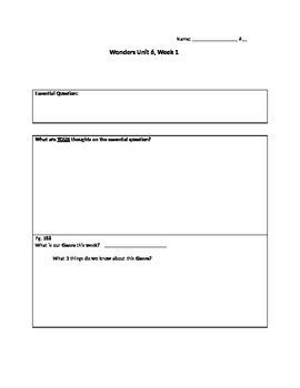 Wonders unit 6 Week 1 Packet
