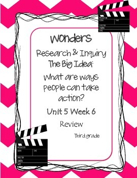 Wonders~Unit 5 Review Week ~Choose a Project~