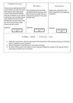 Wonderstruck Activity Sheet