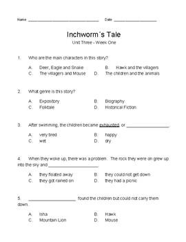 Wonders / Wonderworks 3rd Grade - Modified Tests - Unit 3, Weeks 1-5 (5 tests)