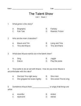 Wonders / Wonderworks 4th Grade - Modified tests - Unit 1, Weeks 1-5 (5 tests)