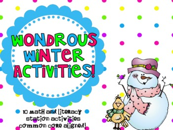 Wondrous Winter Activities! { Math and Literacy Station Common Core Aligned}