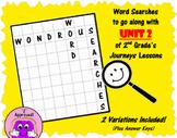 Wondrous Word Searches- Journeys Unit 2- Second Grade