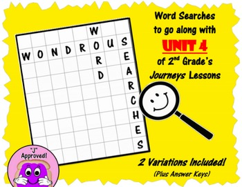 Wondrous Word Searches- Journeys Unit 4- Second Grade