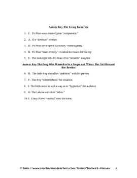 Wondrous Worlds and Making Your Mark Vocabulary Quiz Worksheet