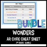 Wonders AR Cheat Sheet BUNDLE Units 1-6