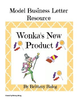 Wonka's New Product - Business Letter to Edit