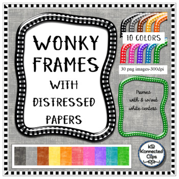 Wonky Shiny Frames with Distressed Papers
