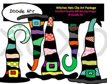 Wonky Witch Hats Clipart Pack