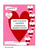 Won't You Be My Valentine (Distributive Property Activity)