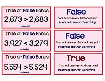 Woo-Hoo Boo-Hoo!! A Comparing Numbers Game!