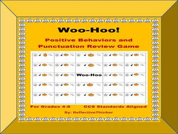 Woo-Hoo:  Fall Themed Positive Behavior and Punctuation Review Game