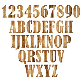 Wood Digital Alphabet - F00003