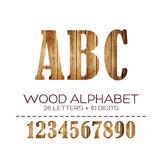 Wood Digital Alphabet - F00003