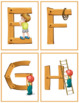 Wood Alphabet Flash Cards; ABC; Kindergarten; Preschool; Homeschool;