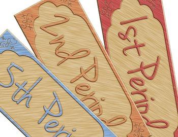 Wood Block Whiteboard Labels