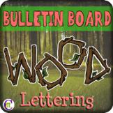 Wood Bulletin Board Letters
