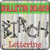 Wood Bulletin Board Letters (Birch)