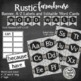Wood Burlap and Chalkboard Bundle - Tags - Word Wall Labels