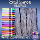 Wood Crayons (Stock Photo)