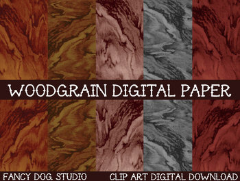 Digital Paper - Woodgrain